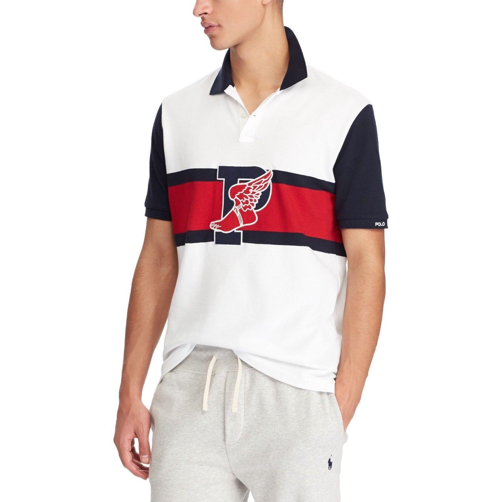 Ralph Lauren The Stadium Polo Shirt P-Wing 1992 White Red 93 stadium Size M