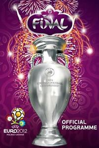 Euro 2012 Final Spain V Italy Official Match Programme English Language Ebay