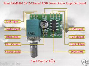 Mini-PAM8403-DC5V-3W-3W-2-Channel-USB-Power-Audio-Amplifier-Board-Volume-Knob