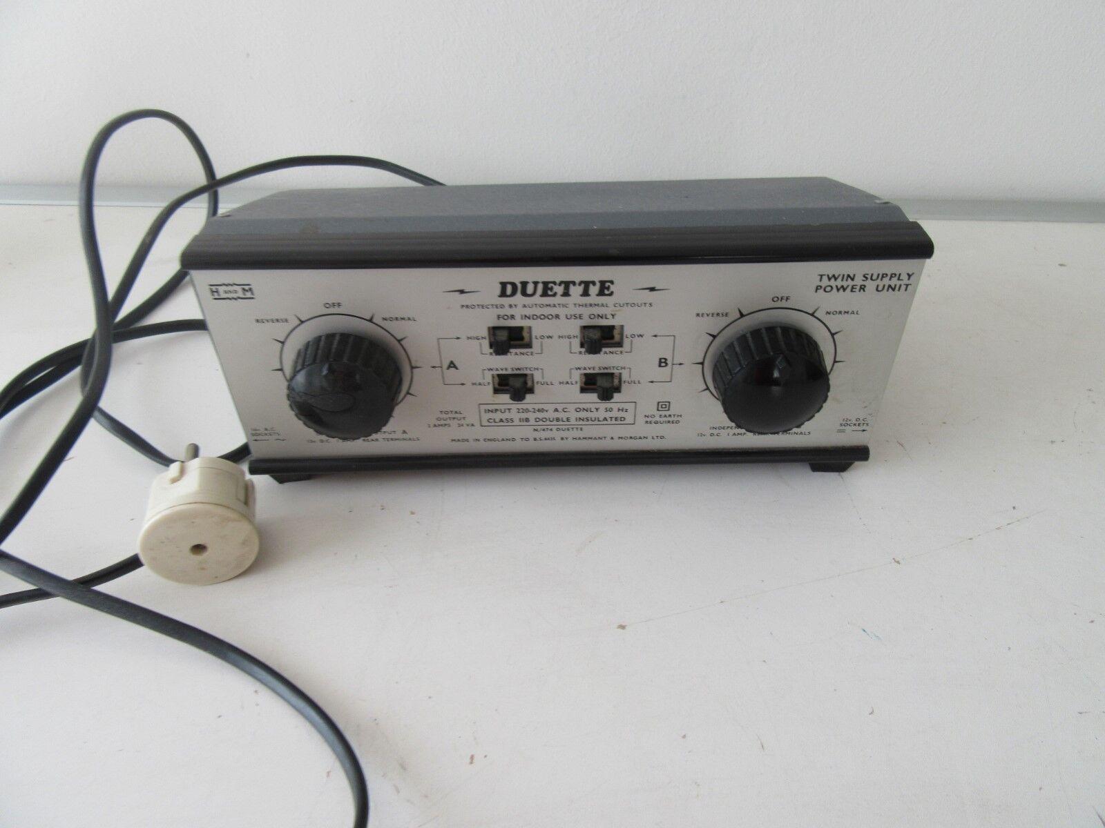 Hammant&Morgan N 474 Duette powerunit modelbaan trafo
