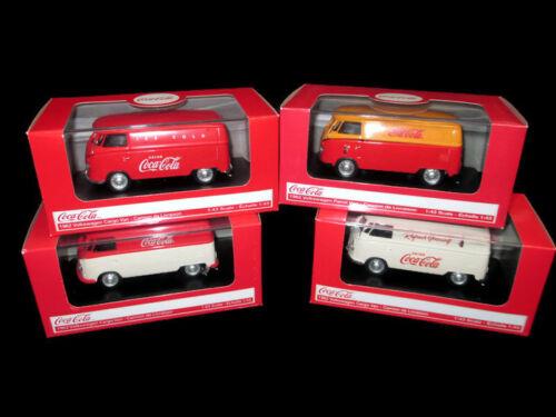 Coca-Cola  Set of 4 1:43 Model 1962 Volkswagen Cargo Van VW