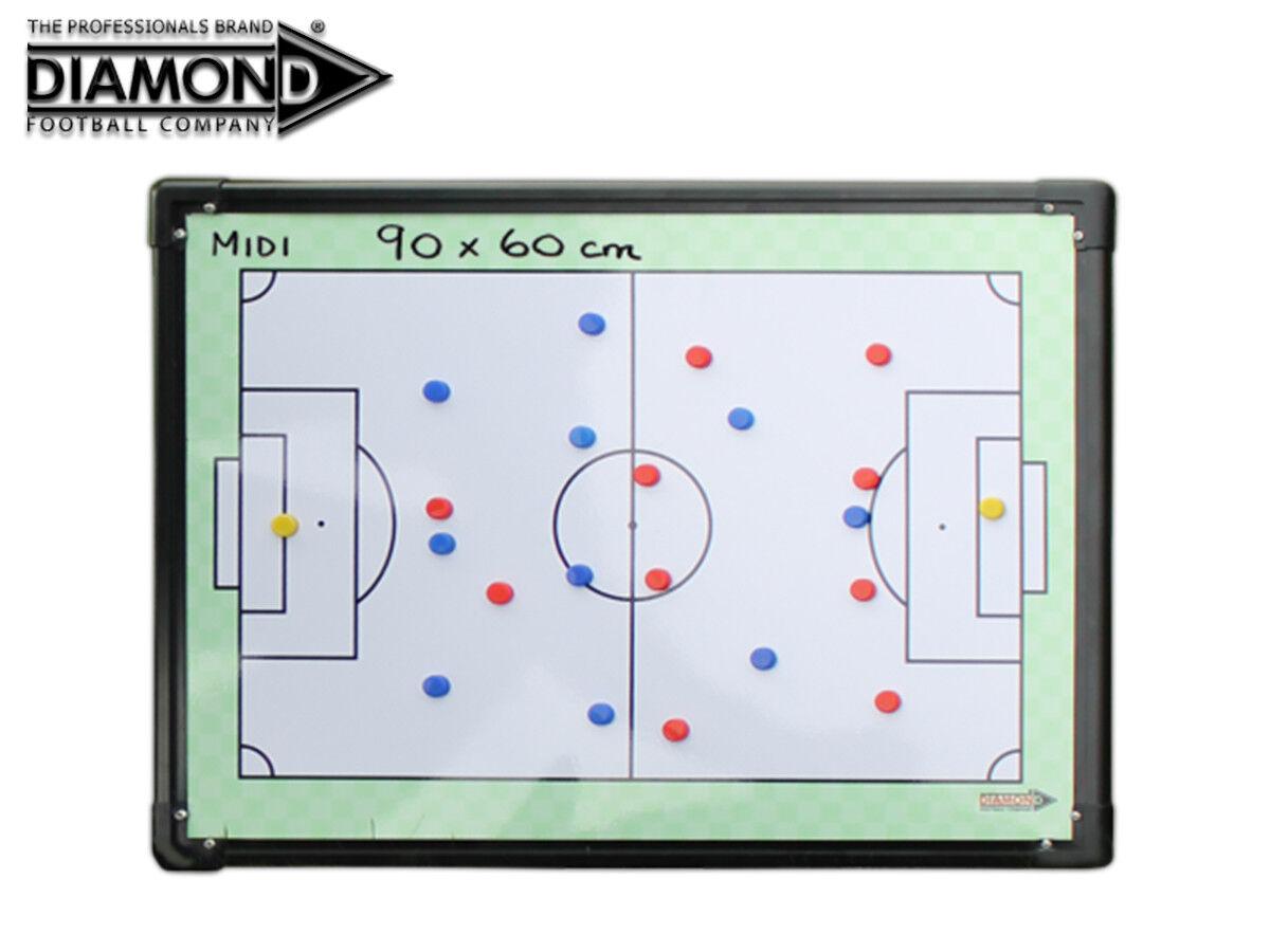 NUOVO NUOVO NUOVO DIAMOND FOOTBALL-MIDI BIADESIVO Tattica Board 90x60cm + Borsa a1263c