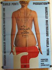 WIE VERKAUFE ICH MEINE FRAU (Kinoplakat / Filmplakat '65) - MARCELLO MASTROIANNI
