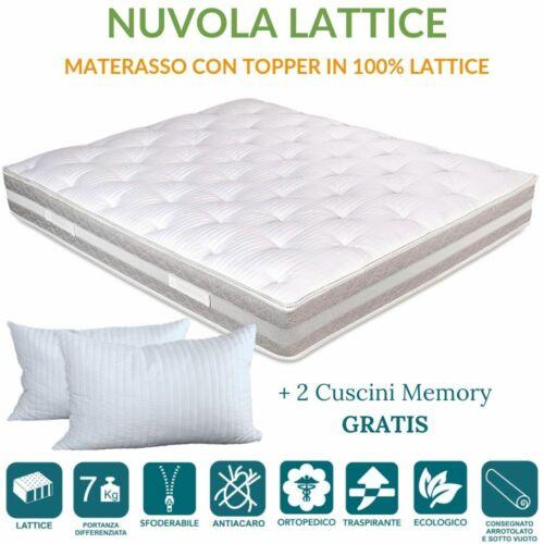 Furniture Cuscino Memory Gratis Materasso Topper In Lattice Sfoderabile Lavabile H 25 Home Garden