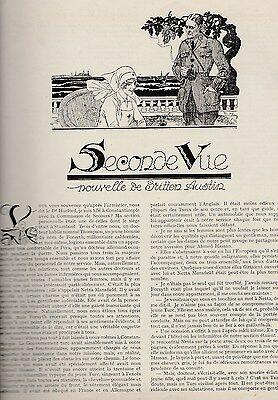 Doelstelling Coupure De Presse Seconde Vue, Nouvelle De F. Britten Austin 1923 Felix Lorioux