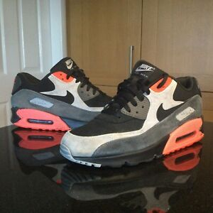 Mens-Nike-Air-Max-90-LTR-Premium-2014-Sz-UK-11-US-12-EUR-46-Black-Grey-Orange