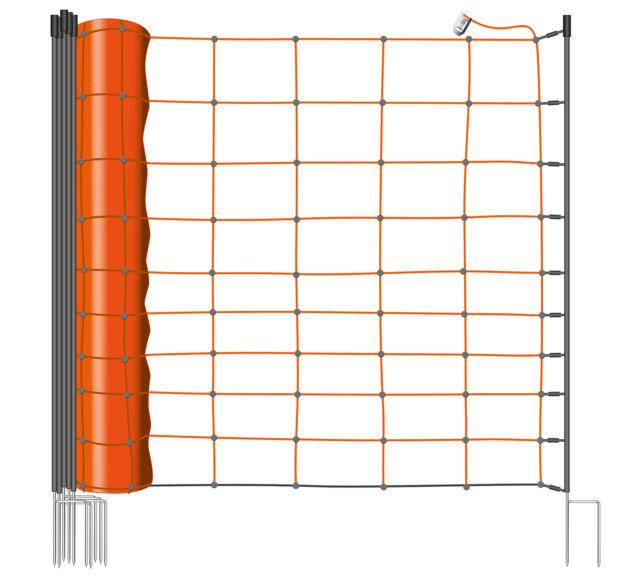 Schafnetz Schafzaun Hundezaun 90-108 cm 50m Elektrozaun Weidezaun Agility Zaun