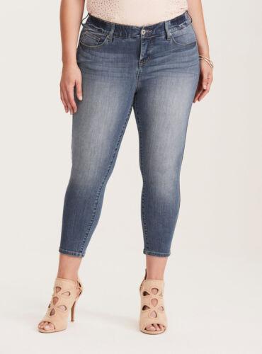 Torrid Beskåret Medium Jeans Stretch Wash Bombshell Premium Skinny qr6w7tpqx