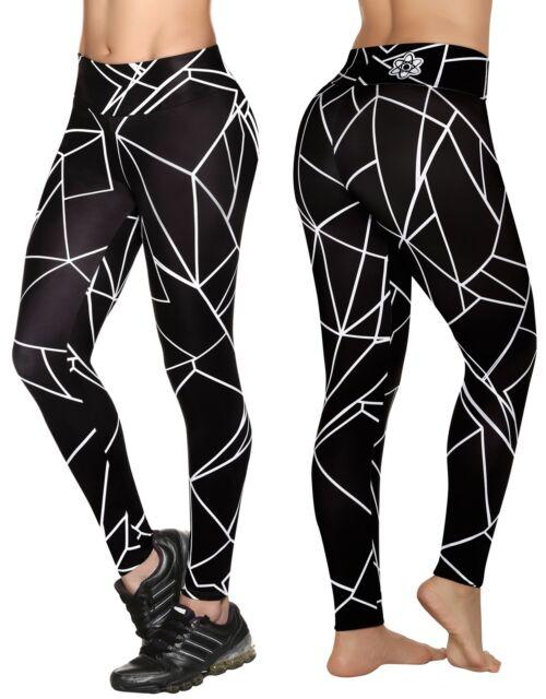 1e33e631bddf6 Proton Womens Compression Leggings Anti Cellulite High Waist Flattering L