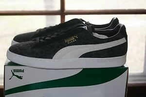 taille 40 92605 c4c0f Details about Mens Puma Suede Classic Clyde Black White Sz 10 Shoes