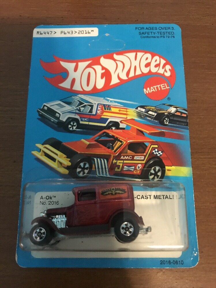HOT WHEELS 1979 - A-OK EARLY TIME VAN (MADE IN HK) ITALY BLISTER RARE MIB