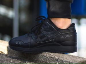 new product afc71 d7b5e Details about asics gel lyte iii Black Leather H534L9090 RRP £90.00