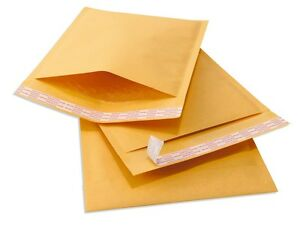 1000 #000 TUFF Kraft Bubble Mailers 4x8 Self Seal Padded Envelopes 4 x 8 636391175340