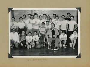 VINTAGE ROYAL AMBASSADORS YOUTH BOYS BASKETBALL TEAM SPORTS PHOTOGRAPH 1950S