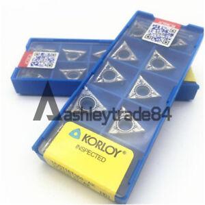 10PCS TCGT16T302-AK H01 TCGT32.52 CNC Carbide Inserts For Aluminum Copper NEW
