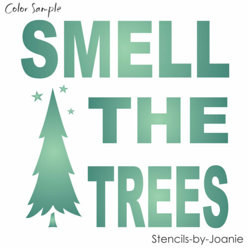 Joanie Stencil Smell Trees Rustic Lodge Pine Stars Mountain Cabin Home Art Decor