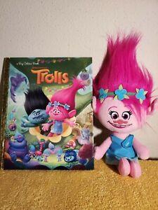 DreamWorks Trolls Poppy Talkin' Troll Plush Doll And A Big Golden Book/Trolls