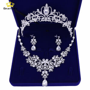 Deartiara-Crystal-Wedding-Jewelry-Set-Bridal-Tiara-Crown-Necklace-Earrings