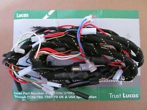 Details about 54955256 GENUINE LUCAS 1969/70 TRIUMPH T120 TR6 MAIN on mgb wiring harness, tr3 wiring harness, tr6 engine,