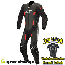 Alpinestars Missile Leather 1 Piece Motorbike Motorcycle Suit - Black/Red