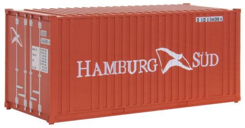 """Faller 180822 h0 20/' conteneurs /""""Hambourg SUD/"""" + NOUVEAU /& NEUF dans sa boîte"""