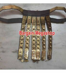 Roman legionary Belt Rome Legion leather belt armor with Heavy Brass, Xmas Gift