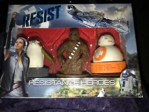 Disney's STAR WARS New Eraser Case Resisance Heroes PORG CHEWBACCA And BB-8
