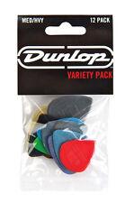 Jim Dunlop Players Pack Medium/Heavy Variety Guitar Picks Plectrum 12 Pack