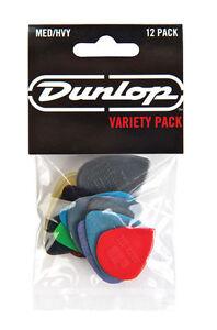 Jim-Dunlop-Players-Pack-Medium-Heavy-Variety-Guitar-Picks-Plectrum-12-Pack