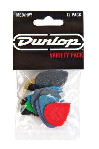 Jim Dunlop Player Pack Medium//Schwer Vielfalt Gitarre Plektren 12er