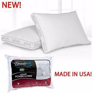 Super Firm Bed Pillow King Queen Size Pillow Neck Head Support Comfort Sleeping