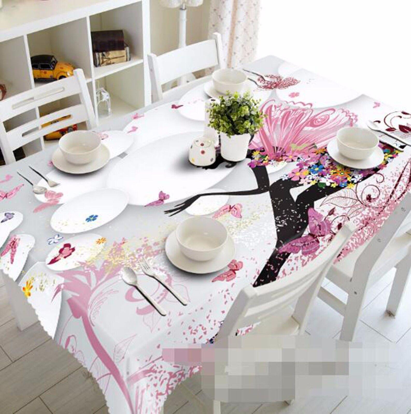 3D Assistant 436 Nappe Table Cover Cloth fête d'anniversaire AJ papier peint Royaume-Uni Citron