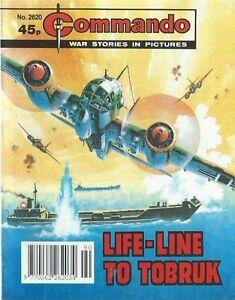LIFE-LINE-TO-TOBRUK-COMMANDO-WAR-STORIES-IN-PICTURES-NO-2620-WAR-COMIC-1992