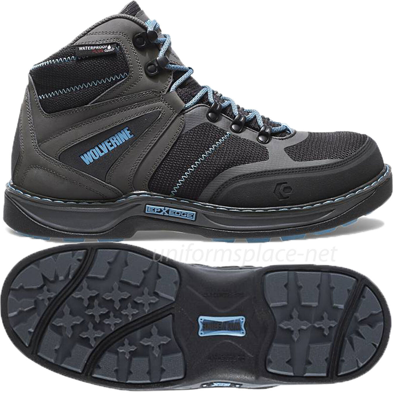 Wolverine Work Boots Womens Edge FX Waterproof Carbonmax Safety Toe W10550 Black