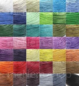 Wachsband Wachsschnur Perlenschnur Baumwolle gewachst Kordel 1mm Auswahl