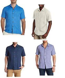 2aa0eaf3 Image is loading Tommy-Bahama-Luau-Floral-Short-Sleeve-Washable-Silk-