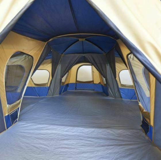 Large Camping Tent Base Camp  14 Person Room Entrance Window Storage Hiking Huge  luxury brand