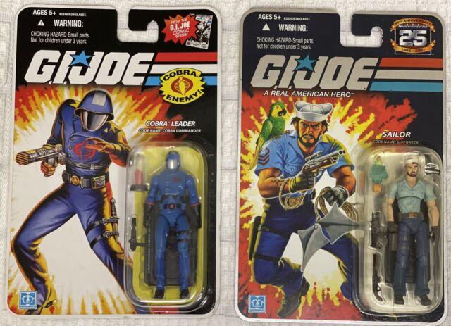 GI Joe 25th anniversary (Lot Of 2) Shipwreck & Cobra Commander