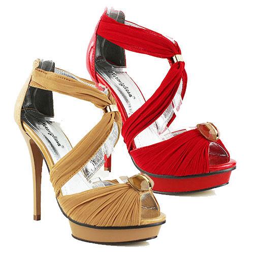 WOMENS EVENING PLATFORM SANDALS STRAPPY HIGH STILETTO HEEL LADIES SHOES SANDALS PLATFORM SIZE 3-7 2370b7