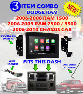s l300 06 07 08 09 10 dodge ram car stereo radio double din installation  at fashall.co