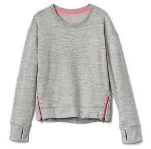 cfb86930a Athleta Girl NWT Bright Side Sweatshirt S (7) MSRP $49 grey heather ...