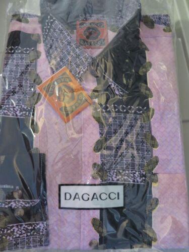 DAGACCI Mens Dress Shirt Perma Press Polyester BEAUTIFUL Peach Skin NEW M-2XL