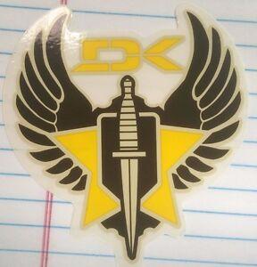 """DK, Maker of Skateboard Decks, Sticker, 3-1/2"""", Series 92915117"""