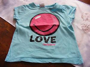 neuwertiges-tuerkises-T-Shirt-mit-Smiley-von-Smiley-World-in-Gr-122