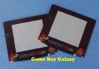 2 Replacement Screens Lens Covers Nintendo Game Boy Color Super Mario Gbc 2x