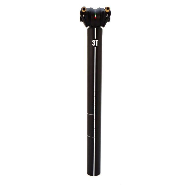 3T Zero 25 Pro Bike Seatpost 31.6x350mm 7075 Alu O or 25mm setback-Black//White