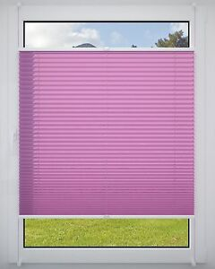 Plissé Klemmfix sans perçage tendue faltrollo store store store lilas 40x130cm