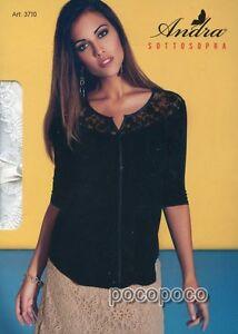 Ropa de mujer Camisas, camisetas y tops 3711 SOTTOGIACCA MEZZA MANICA DONNA VISCOSA ANDRA ART