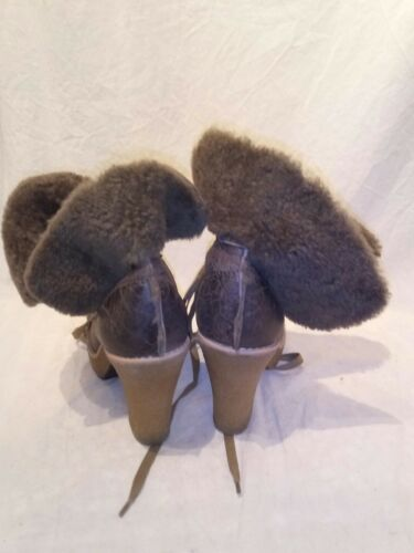 Brown Ref 5 Ap01 Uk Bertie Ladies Boots Platform Sheepskin qaWZ16C