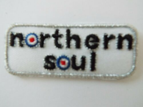 Northern Soul Scooter Biker Embroidered Patch Mods and Rockers